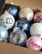 Décoration de Noël personnalisée - Boule de Noël avec prénom